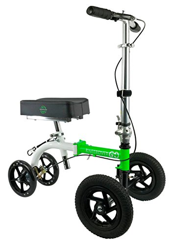 Rover Range Walker - NEW KneeRover GO HYBRID - Most Compact and Portable Knee Scooter with ALL TERRAIN Front Wheels