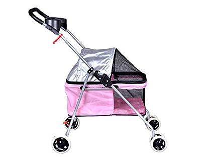 Posh Pet Stroller Cat Dog Easy Walk Stroller Travel Folding Carrier