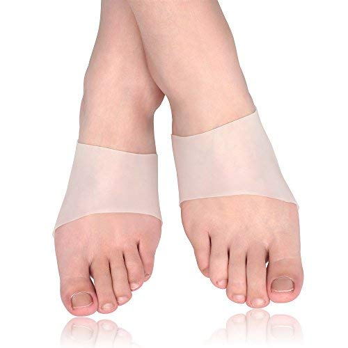 Skyfoot's Arch Support Gel Sleeves for Flat Feet - Plantar Fasciitis Sleeves Pain Relief for Men and Women - 2 Pairs (Large - W10-13 | M9-14)
