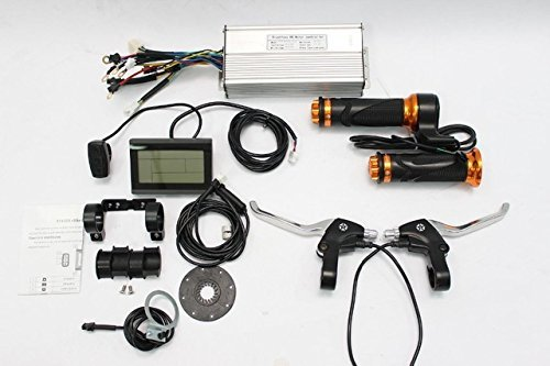 36V 48V 1500W Brushless DC Sine Wave Controller + 36V 48V LCD Control Panel + Twist Throttle +Brake Lever+PAS + Speed Sensor