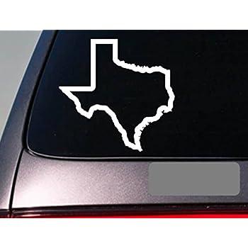 Texas state 6 sticker decal car truck window college football hog hunting