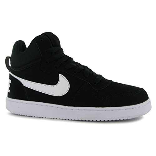 Nike Court Borough Mid Scarpe Nero/Bianco Casual Sneakers Calzature