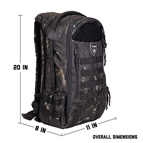 Tactical Baby Gear Daypack 3.0 Tactical Diaper Bag Backpack and Changing Mat (Black Camo) by Tactical Baby Gear (Image #5)