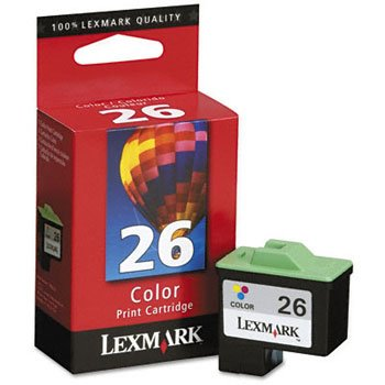 Lexmark International LEX10N0026 Inkjet Cartridge- 275 Page Yield- Color