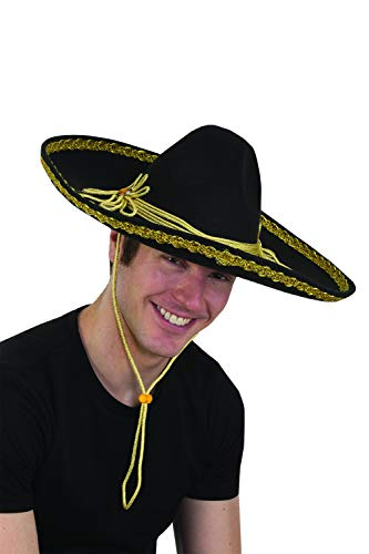 Jay Hats Costume Accessory - Mexican Mariachi Sombrero Hat w/ Gold Accents