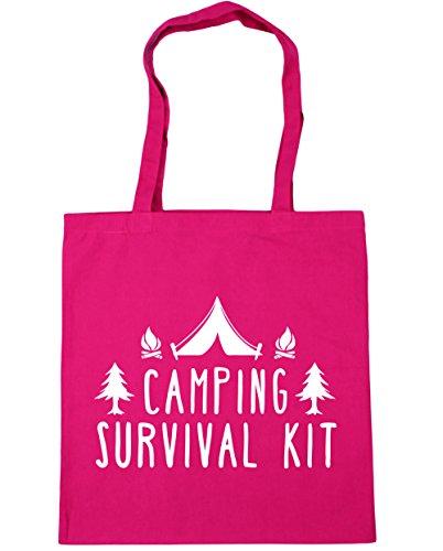 10 kit 42cm Camping Tote Fuchsia x38cm Gym Beach HippoWarehouse Shopping litres survival Bag EwqnR