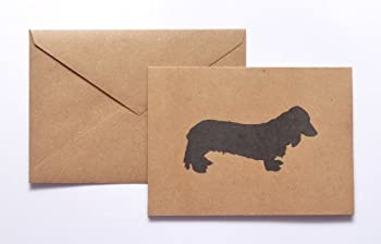 Long Haired Dachshund Stationery Note Card Set