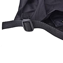 CoscosX Unisex Waterproof Snowproof Outdoor Hiking Walking Gaiters Climbing Hunting Snow Legging Leg Cover Wraps (Navy Blue)