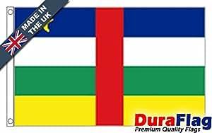 duraflag® República Centroafricana bandera de calidad profesional (puerta y Cambiadas), 0.75 Yard (68cm x 34cm)