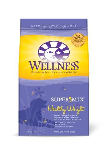 Wellness Super5Mix Healthy Weight Recipe Dog Food, 26-Pound Bag, My Pet Supplies