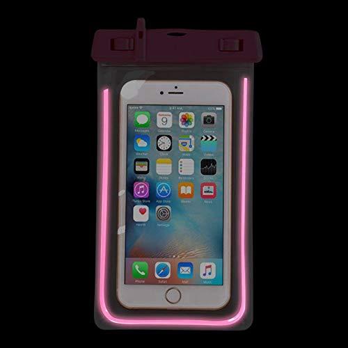 Enterrific Waterproof Phone Dry Case Pouch PVC Touchscreen Luminous Bag for Universal Phones