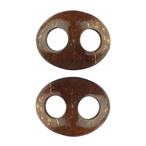 Pavinee Sarong Tie Premium Quality Pareo Tie Coconut Shell Buckle Buy 1 Get 1 Free (Oval) ()