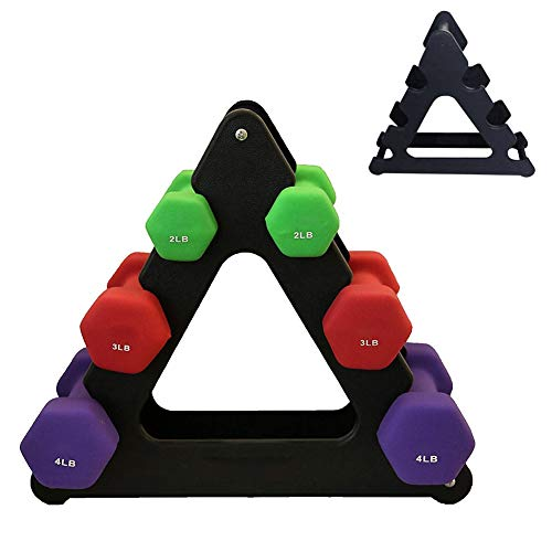 KINHOO Weight Lifting Dumbbell Tree Rack Stands, Weightlifting Holder Dumbbell Floor Bracket, Home Dumbbell Storage Rack