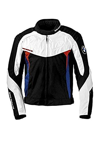BMW Genuine Motorrad Motorcycle Race Jacket Black White Blue Red Size L