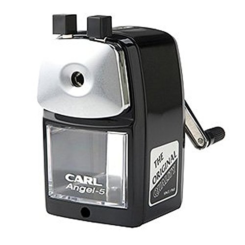 Carl Angel-5 Pencil Sharpener, Black, Quiet for Office, Home and School by Carl