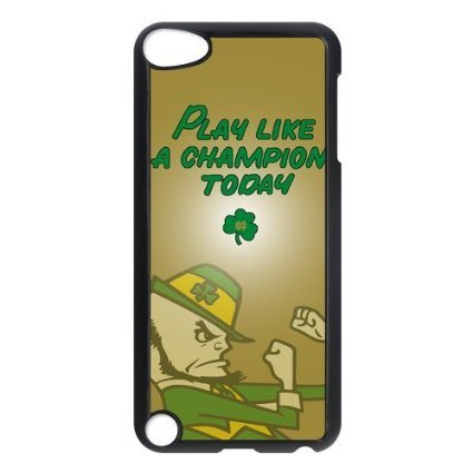 NCAA Notre Dame Fighting Irish Logo Hard Cases Cover for iPod Touch 6th Including Dust Plug