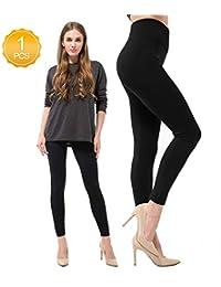 6 Pack Women's Fleece Lined Leggings Soft High Waist...