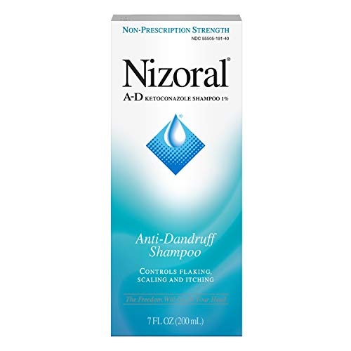 Nizoral A-D Anti-Dandruff Shampoo 7 Fl. Oz Itchy Scalp Dandruff Treatment w/ Ketoconazole ()