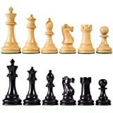 "Wholesale Chess British Staunton Style Ebonized Wood Chess Pieces - 4"" King Height"