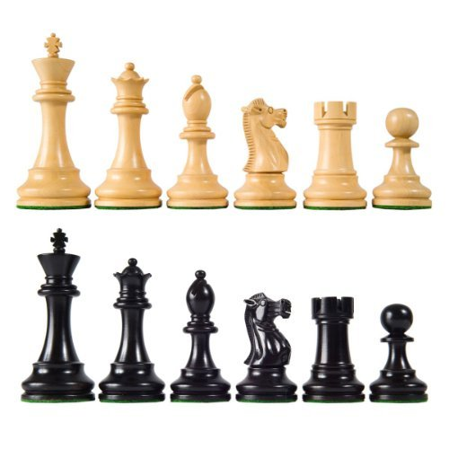 Wholesale Chess British Staunton Style Ebonized Wood Chess Pieces - 4