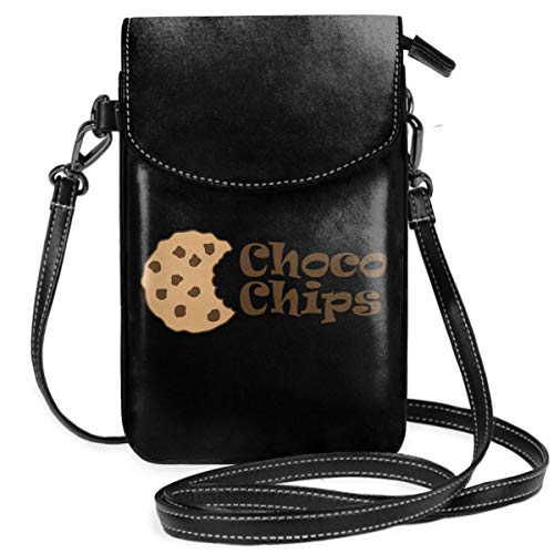 Small Cell Phone Purse For Women Leather Choco Chips Insides Card Slots Crossbody Bags Wallet Shoulder Bag
