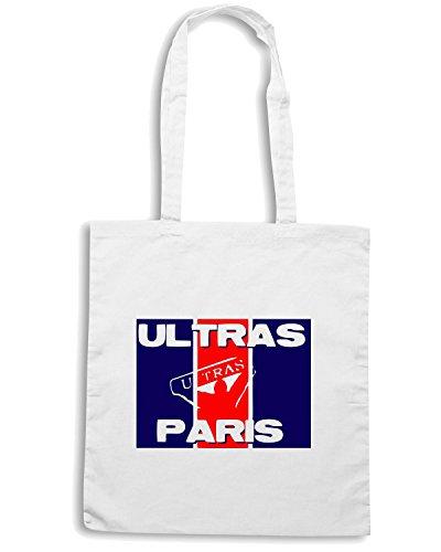 T-Shirtshock - Bolsa para la compra TUM0058 ultras paris Blanco