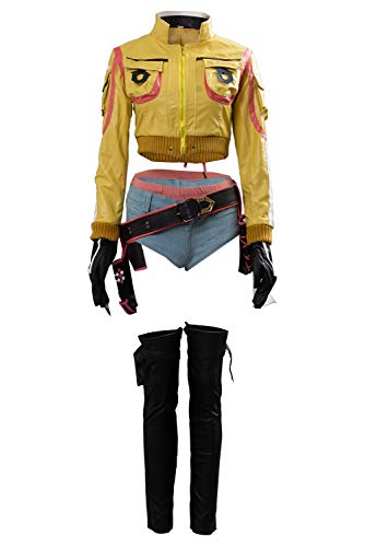 Cosplaysky Final Fantasy XV Costume FF15 Cindy Aurum Gas Station Service Uniform with Hat