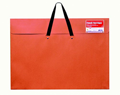 Star Products Classic Red Rope Soft Woven Handle Portfolio, 20-Inch by 26-Inch