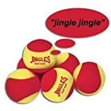 Oncourt Offcourt Tennis Jingles Bell Balls Set – Softball Sized Foam Balls/Make Noise Upon Contact