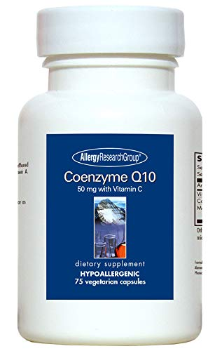 Allergy Research Group Coenzyme Q10 with Vitamin C – 50 mg – 75 Vegetarian Capsules