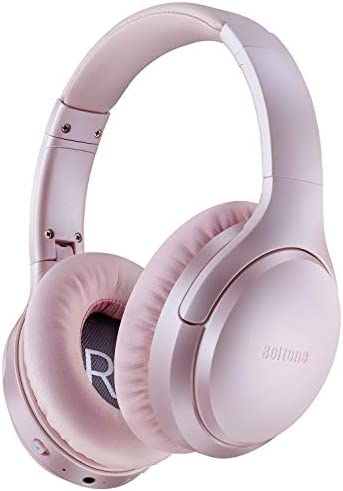 Boltune Active Noise Cancelling Headphones, Bluetooth 5.0 Over Ear Wireless Headphones with Mic Deep Bass, Comfortable Protein Earpads 30H Playtime for Travel Work TV PC Cellphone