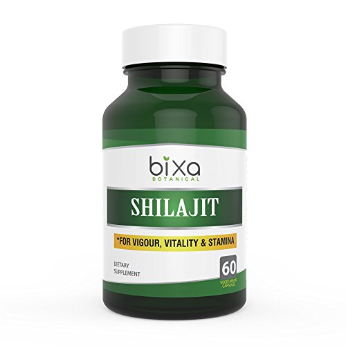 Shilajit Capsules with fulvic acid (Asphaltum extract Powder) 60 veg capsules (450mg) Best Rejuvenate Agent | Herbal supplement to Increase Vigour, Vitality, Stamina & Strength
