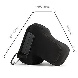"MegaGear """"Ultra-Light"""" Neoprene Camera Case, Protective Cover for Nikon D5600, D3400 (18-105), D5500, D3300, D5300, D5200, D3200, D5100, D3100"