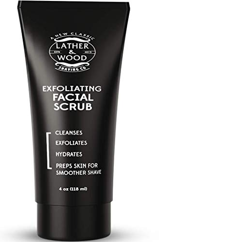 - Best Face Wash for Men - Lather & Wood's Face Scrub - Luxurious Exfoliating Mens Face Wash for the Man's Man. 4oz Facial Cleanser for Men.