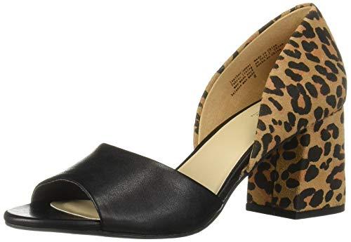 (Seychelles Women's Shabby Chic Heeled Sandal Black/Leopard 9 M US)