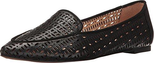 Franco Sarto Women's Soho Smoking Flat,Black Polly Lux Leather,US 8 W