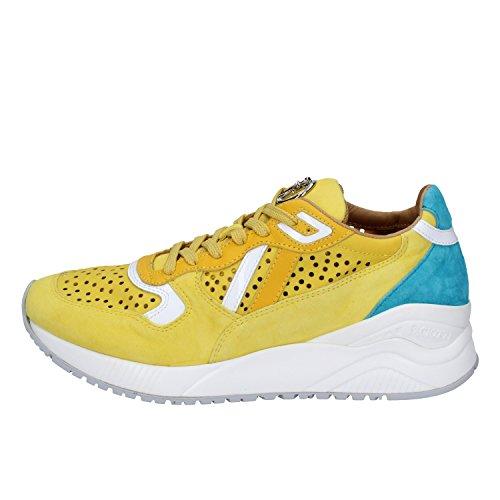 Yellow Fashion 8 PACIOTTI Sneakers US Suede Woman EU 38 CESARE wCf5qq8