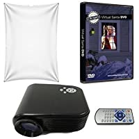 Virtual Reality Christmas Projector Kit with Projector Santa DVD and High Resolution Screen
