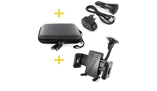 COCHE-soporte, funda rígida & Set de 3-en-1 para GPS con ...