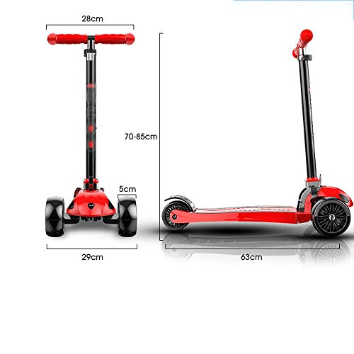 FDSjd Scooter, One-Legged Scooter, Male and Female, 1-12 Years Old, Gravity Steering, Yo-yo (Color : Green) by FDSjd (Image #7)