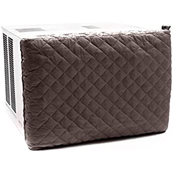 Covermates - Indoor Air Conditioner Cover - 17W x 2.5D x 13H - Diamond - Fitted Elastic - Prevents Drafts - 2 YR Warranty - Year Around Protection - Bronze