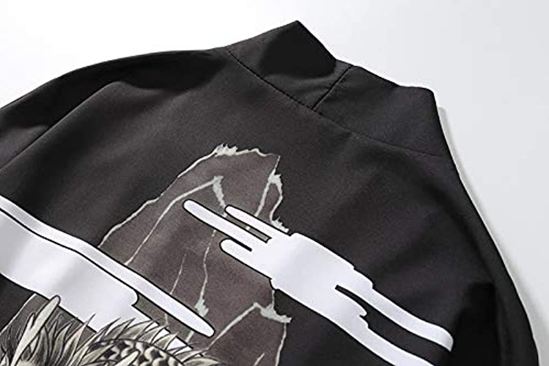 Haori Kimono Cardigan, Haori Jacke Damska ? Męskie Kimono Cardigan Jacke Japanischer Stil Yukata Sieben Ärmel Open Front Coat Regular Fit,Dragonwhite-S: Küche & Haushalt