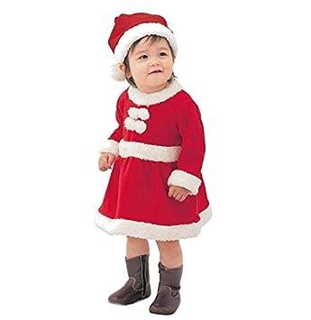 95fa75ac741c4 Pichidrクリスマス 赤ちゃん 子供用 サンタ 帽子付き 衣装 ベビー キッズ サンタ コスチューム 女の子 男の子 寝相