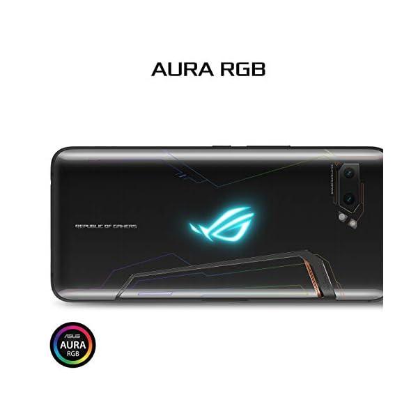 "ASUS ROG Gaming Phone II (ZS660KL-S855P-12G512G-BK) - 6.6"" FHD+ 2340x1080 HDR 120Hz Display - 48MP/13MP Camera – 12GB RAM - 512GB Storage - LTE Unlocked Dual SIM Cell Phone - US Warranty - Black 6"
