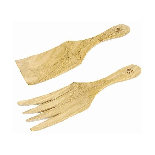 (Berard Olive-Wood Handcrafted Wide Spaghetti/Salad Server)