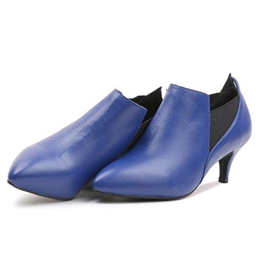 Taille Nues Bottes des Hauts Bottes Grande Bottes Femme Femmes Et Bottes Blue Martin Chevilles Dames décontractées Talons à wfHaqp80x