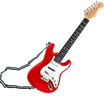 ELEARreg 25 Inch Childrens Electric Guitar 6 Strings For Kids Musical Educational Toy Gifts
