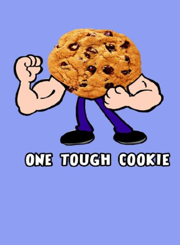 (Rectangle Refrigerator Magnet - Chocolate Chip Cookie w/Muscles One Touch Cookie Humor Funny)