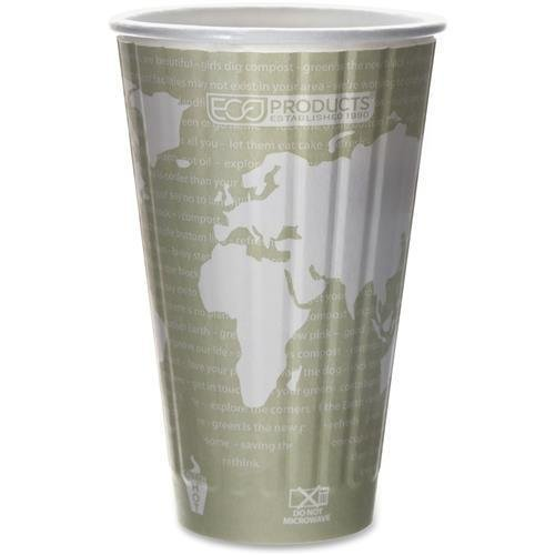 EPBNHC16WD Eco-Products World Art Insulated Hot Cups - 16 oz - 600 / Carton - -