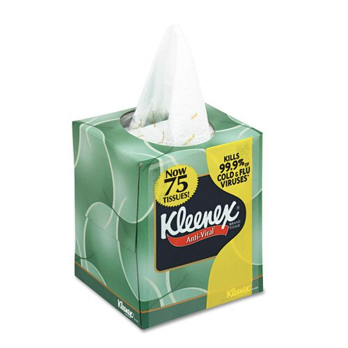 KIMBERLY-CLARK PROFESSIONAL* KLEENEX BOUTIQUE Anti-Viral Facial Tissue, 3Ply, POP-UP Box - Includes 27 boxes of 75 facial tissues each.